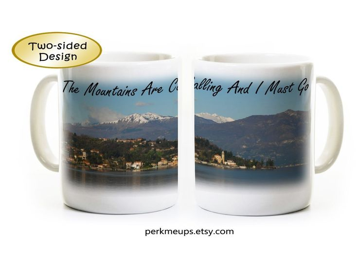 Mountains Nature Lover Mug Gift - The Mountains Are Calling And I Must Go - John Muir Coffee Mug - Hiking Hiker Gift - Listing is for One Mug. This listing is for ONE MUG. The design wraps around the mug - the two photos roughly depict each side of the mug. All mugs are 11 ounces and have a glossy finish. The text and image on each mug is very sharp - we do not allow poor quality mugs to leave the shop. The mugs are dishwasher and microwave safe because of the dye sublimation process that…