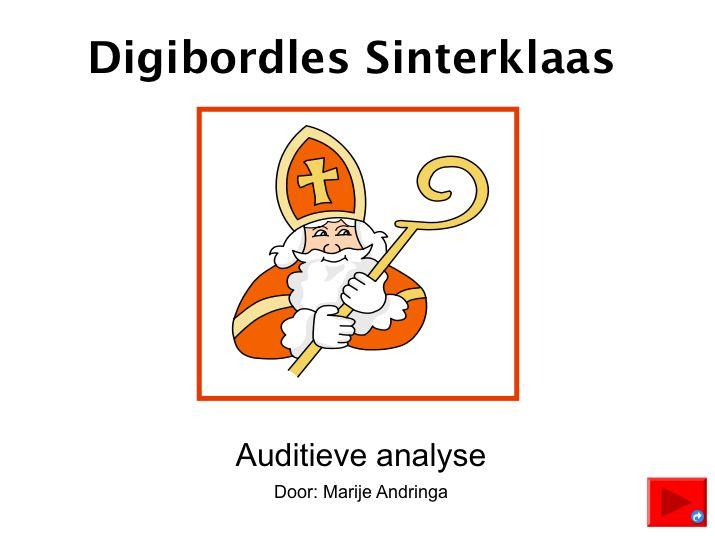 Digibordles Sinterklaas Auditieve synthese