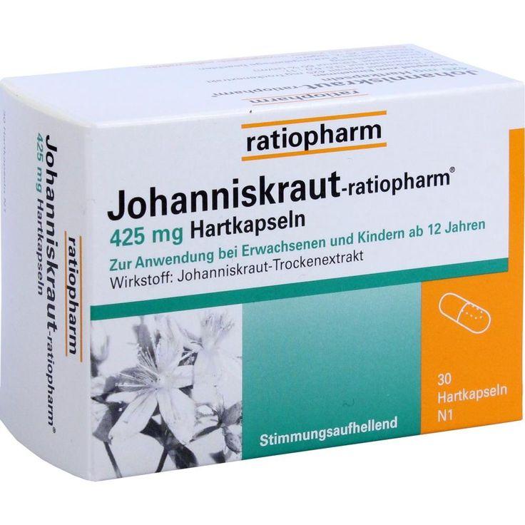 JOHANNISKRAUT RATIOPHARM 425 mg Hartkaps.:   Packungsinhalt: 30 St Kapseln PZN: 00183549 Hersteller: ratiopharm GmbH Preis: 3,79 EUR…