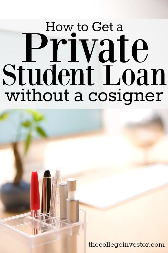 One of the biggest challenges of getting a private student loan with no cosigner is that private student loans are credit based. via @collegeinvestor
