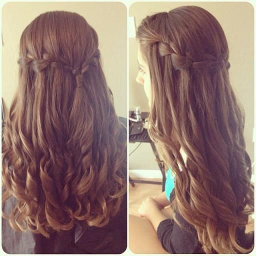 Waterfall Braid & Curls - Hairstyles and Beauty Tips