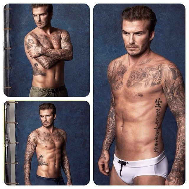 #DavidBeckham's shirtless body is for our eyes to see in these brand new images for his brand new swimwear for the H&M David Beckham Bodywear range.