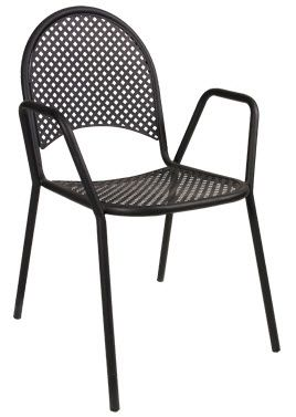 Buy Lot Of 10 Aluminum Restaurant Outdoor Patio Black Metal Powder Coated  Chair At Online Store