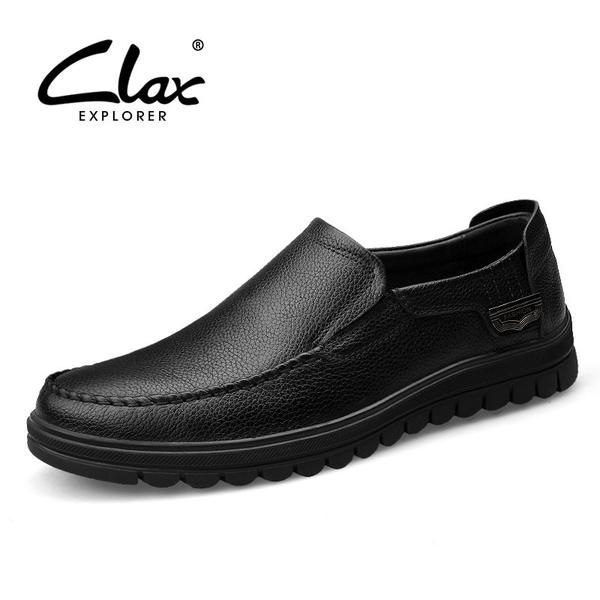 Clax Man Formal Leather Shoes Spring Autumn Men's Black Dress Shoe Genuine Leather Office Loafer Slip On Male Social Footwear - The Big Boy Store