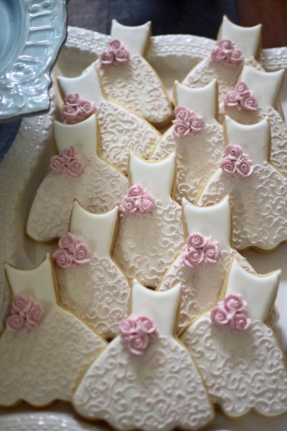 Dama de honor vestido Cookies-10 piezas Cookie favores