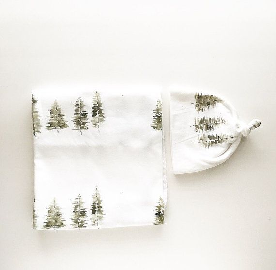 Baby Swaddle Blanket  Watercolor Tree Swaddle  the by finnandolive