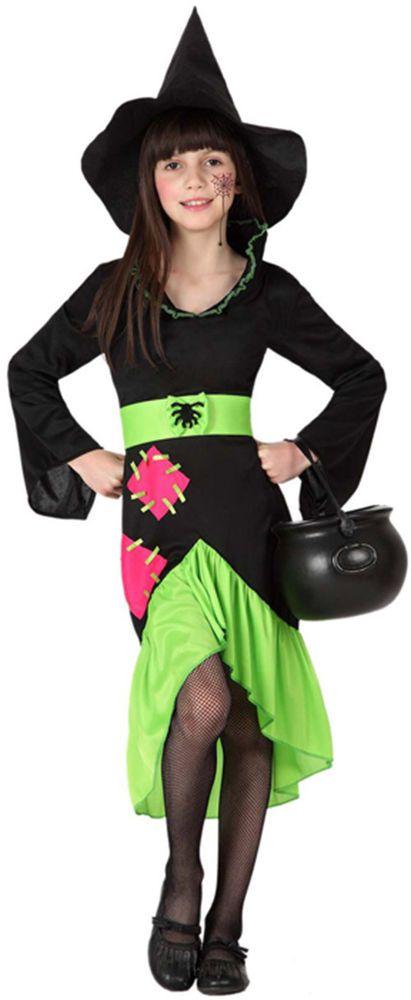 Halloween déguisement fille Vampire verte Taille 10 à 12 ans