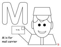 mailman coloring pages for toddlers - photo#23