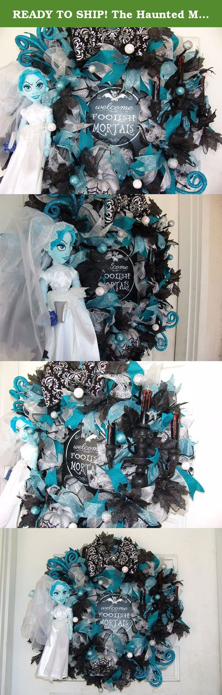 READY TO SHIP! The Haunted Mansion Ghost Bride Halloween Wreath Decor Disney, Gift, Door, Decoration, Floating Light up Candelabra, Welcome Foolish Mortals. If you think this looks awesome from the photo, wait until you see it in person. The pictures really don't do it justice! Please note that I also have a matching Haunted Mansion Hitchhiking Ghosts wreath for sale as well. Sold separately. A gorgeous must have pair of wreaths, especially if you have double doors. Be sure to check that…