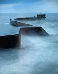 Power of the sea off the Scottish coast