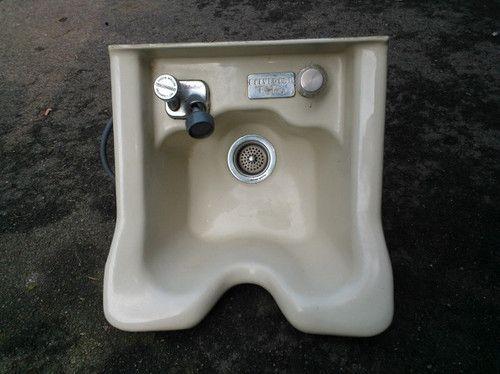 Salon Shampoo Bowl Sink By Belvedere Flo Temp With Plumbing Fixture | EBay