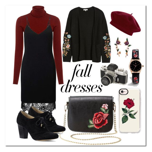 Autumn Look #5 FALLen ROSES by gpatricia on Polyvore featuring polyvore fashion style Miss Selfridge Woven Heart A.L.C. Lands' End Charlotte Russe ASOS Bling Jewelry Casetify Accessorize clothing