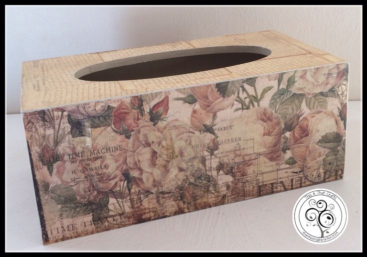 Tissue Box - Vintage Rose Range