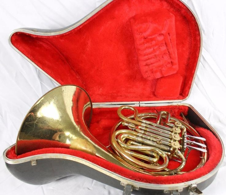 Vintage F.E. Olds USA Double French Horn w/Case Brass Band Instrument #Olds