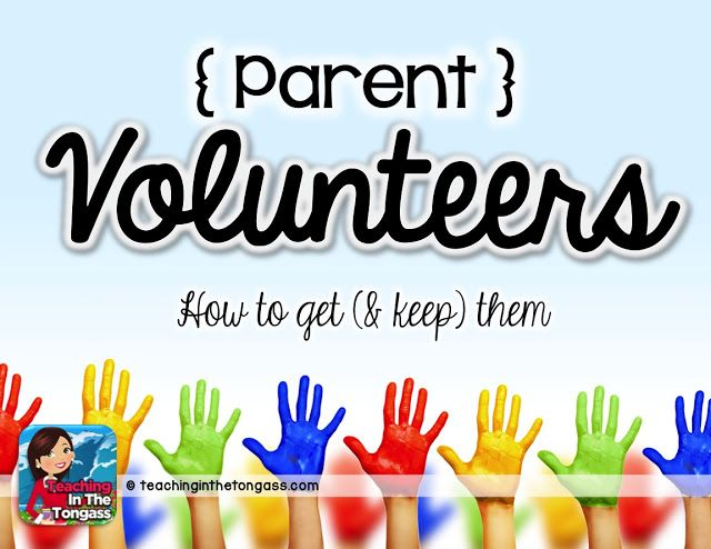 Great post about how a teacher uses parent volunteers and the systems to keep everything organized!