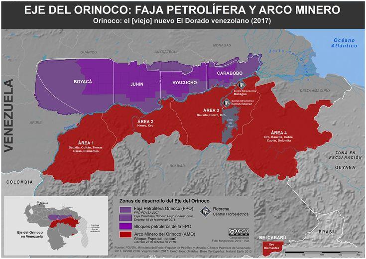 Eje del Orinoco: Represas, Faja petrolífera y Arco minero