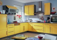 beautiful orange and yellow kitchen walls concrete countertops with regard to yellow kitchen cabinets with grey walls Bright And Colorful Kitchen Design Ideas with Yellow Color