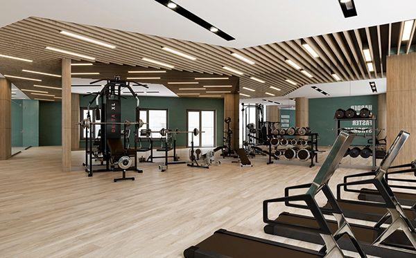 Gym Interior Design On Behance Gym Interior Gym Design Interior Gym Room At Home