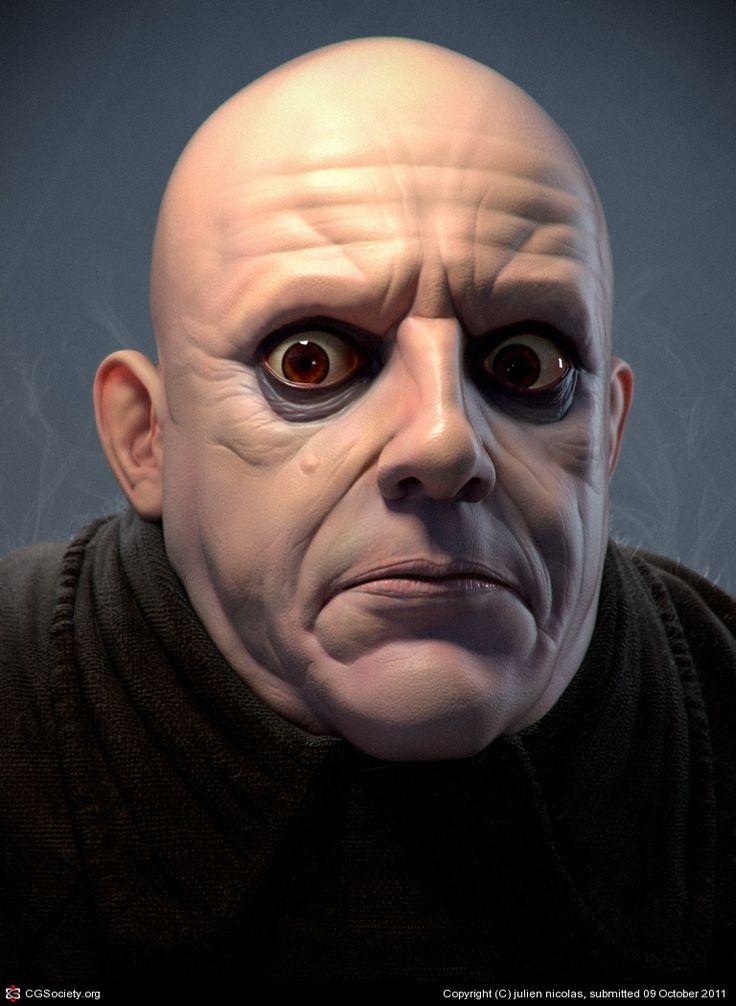 Fester Addams by julien nicolas | 3D | CGSociety