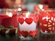 Картинки по запросу декор свечи ко дню влюбленных