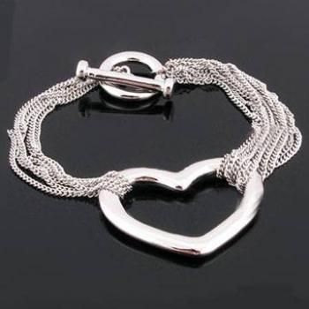 This trendy bracelet looks so much like our Pop Heart Bracelet!  Check it out!