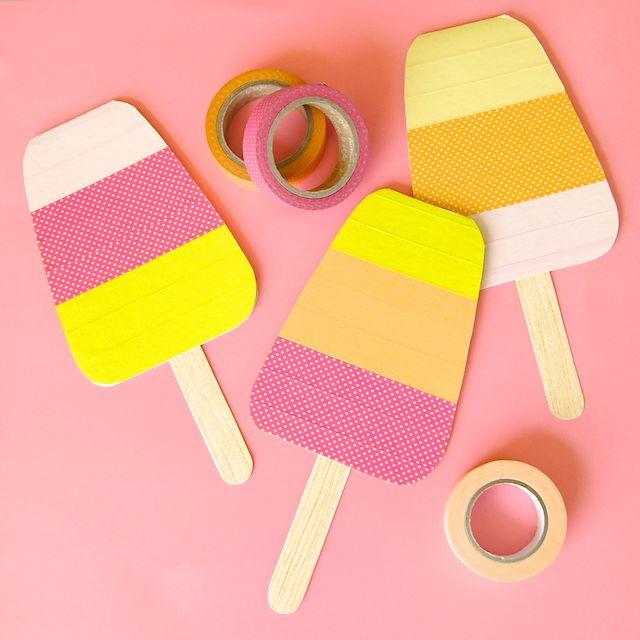 Omiyage Blogs: DIY Washi Tape Popsicle Cards