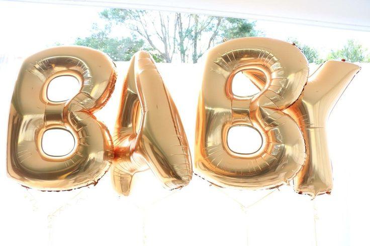 Foil balloons, baby shower
