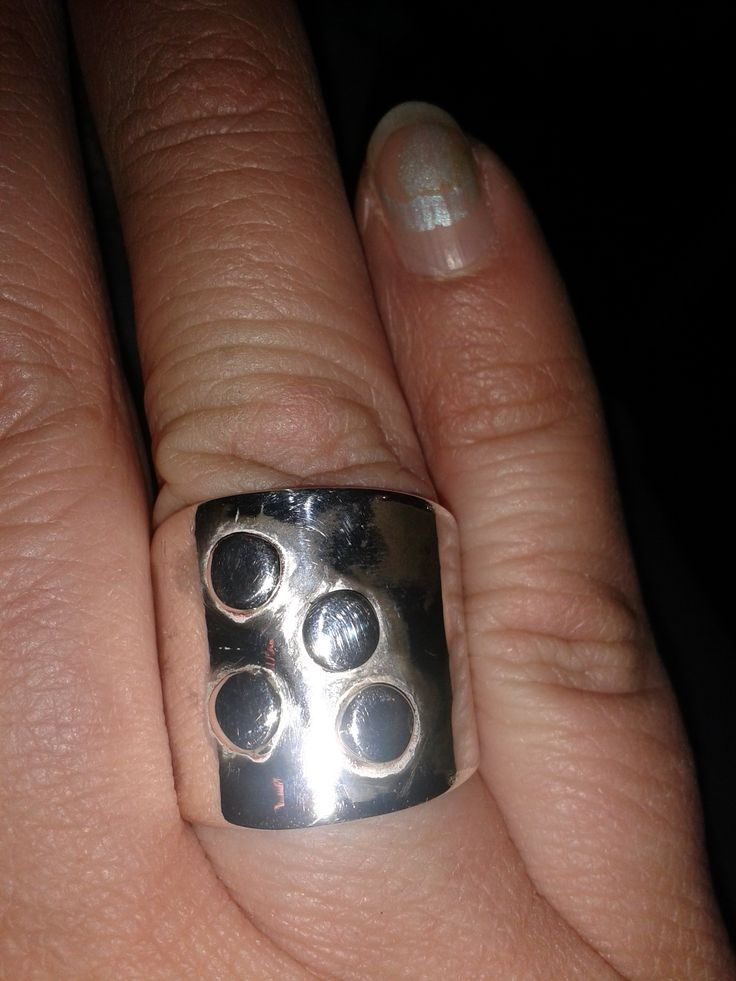 zilveren brede ring