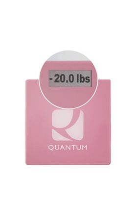 The never tell you your weight scale, just if you are up or down from the very first time you stepped on it! Lets you focus on the what-you're-doing-about-it part vs. the what-do-i-weigh-now part
