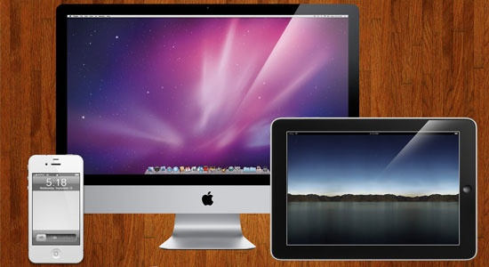 Free Download Apple Templates (iMac, iPad, iPhone)