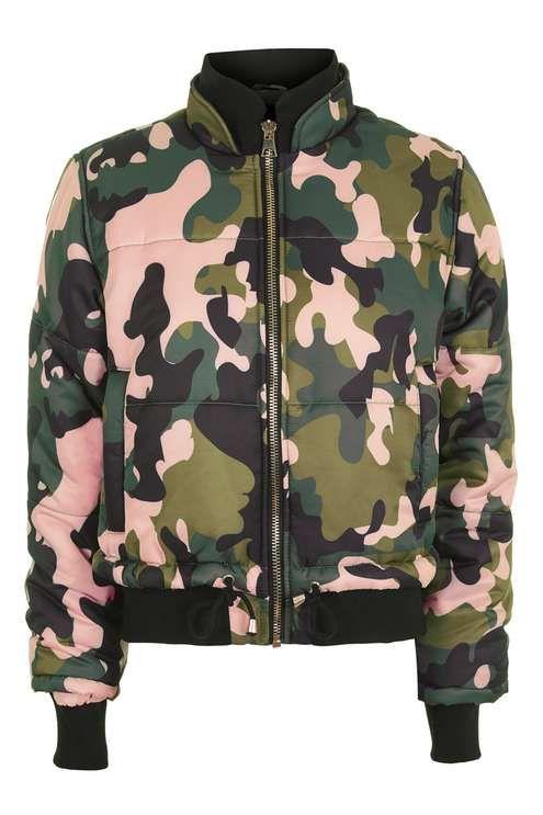 Pink Camo Puffer Jacket
