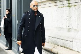 The Coat. Milan Vukmirovic, Ports 1961 Creative Director in Balmain Homme AW12.