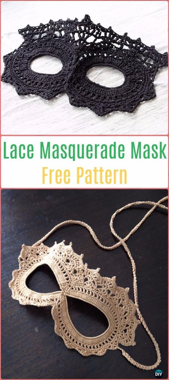 Crochet Lace Masquerade Mask Free Pattern - Masquerade Beauty Crochet Eye Mask Free Patterns