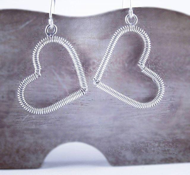 #hearts #silver #handmade jewelry #earrings #picart