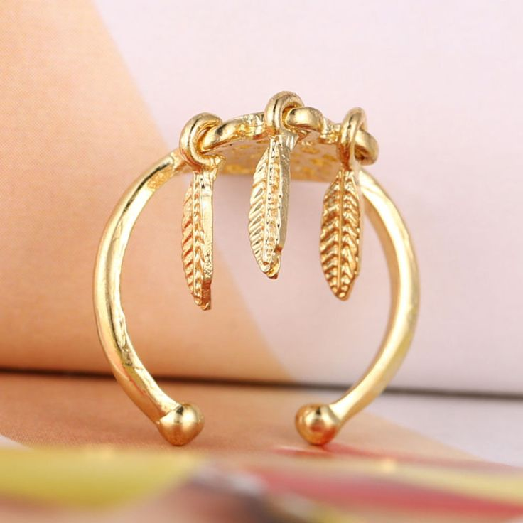 New Fashion Silver Color feather charm open-end dreamcatcher Rings For Women Dream Catcher Jewelry