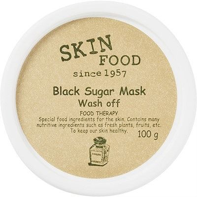 Skinfood Wash Off Black Sugar Mask - The black sugar sourced by SKINFOOD comes from one of Brazil's leading producers. Its rich brown color derives from the amount of molasses, a syrup separated out from sugar after the refining process. While most commercial brown sugar is simply refined white sugar coated with molasses, black sugar is unrefined, leaving behind more of the natural benefits.
