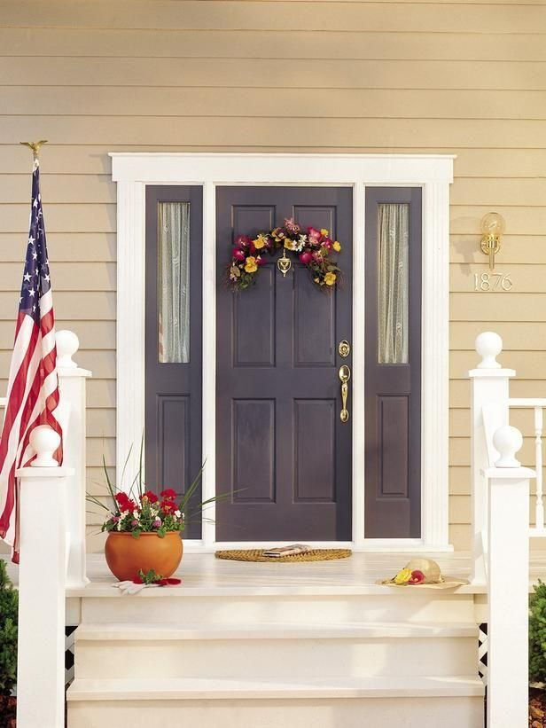 Decoration Interesting Design Of Most Popular Front Door Colors With Gray Color