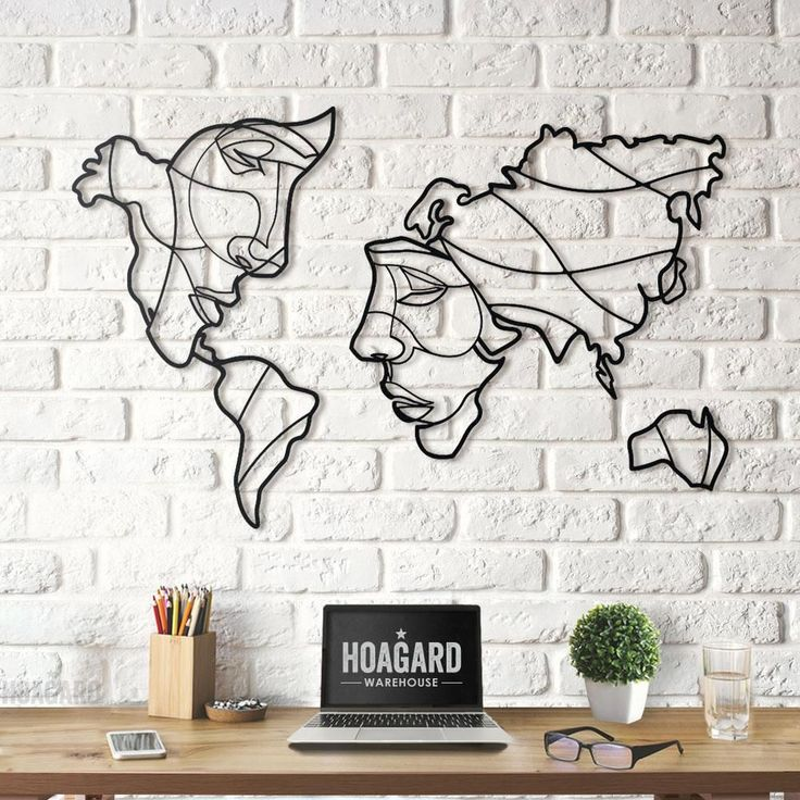 Faces of World Map