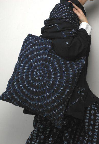 Indigo clothes and tote bag
