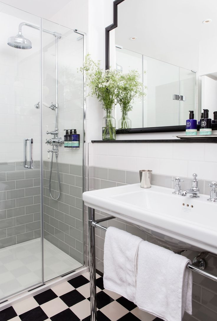 1000 images about beautifulbathroom images on pinterest - Grey black and white bathroom decor ...