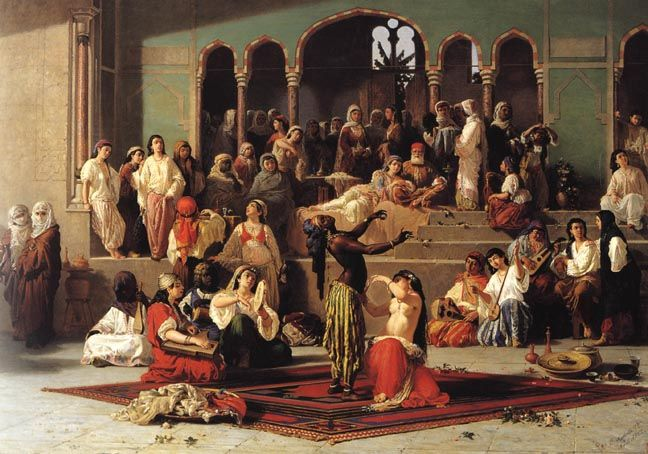 """""""The Dance of the Bee in the Harem""""  by Vincenzo Marinelli (1862)"""