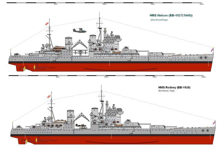 hms battleship rodney warships diagram 70 battleship. Black Bedroom Furniture Sets. Home Design Ideas