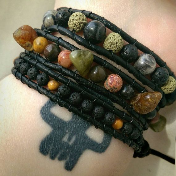 Check out this item in my Etsy shop https://www.etsy.com/ca/listing/266196163/real-leather-triple-wrap-bracelet-with