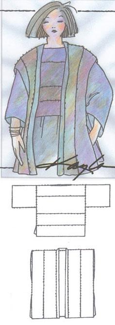 Panel Top & Panel Vest by Kayla Kennington For handwoven fabric