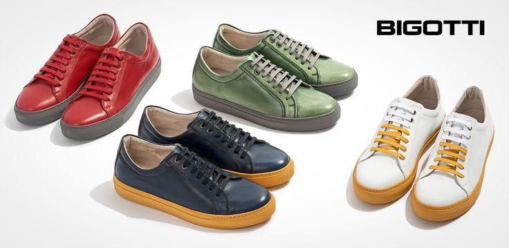 The #Bigotti #bicolor #sneakers #add #instant #interest to your #casual #outfits. www.bigotti.ro #Bigottiromania #moda #barbati #mensfashion #shoes #pantofi #piele #mensstyle #twotone #bicolori #leather #fresh #comfortable #modern