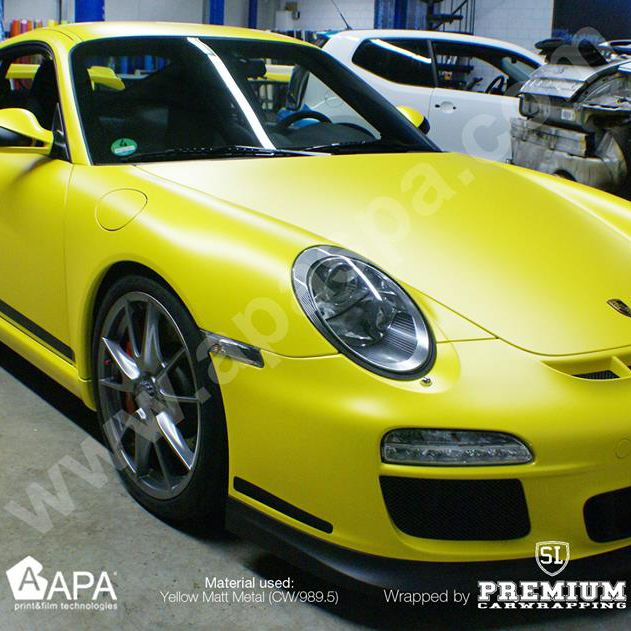 Car wrapping with yellow matt metal (CW/989.5) #apastickers #apafilms #apafolie #apavinyl #carfoil #carwrapping #carwrap #yellowwrap #yellowvinyl