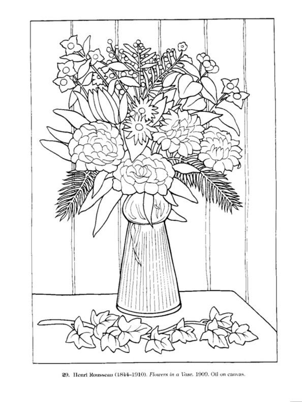 printable coloring pages of masterpieces - photo#24