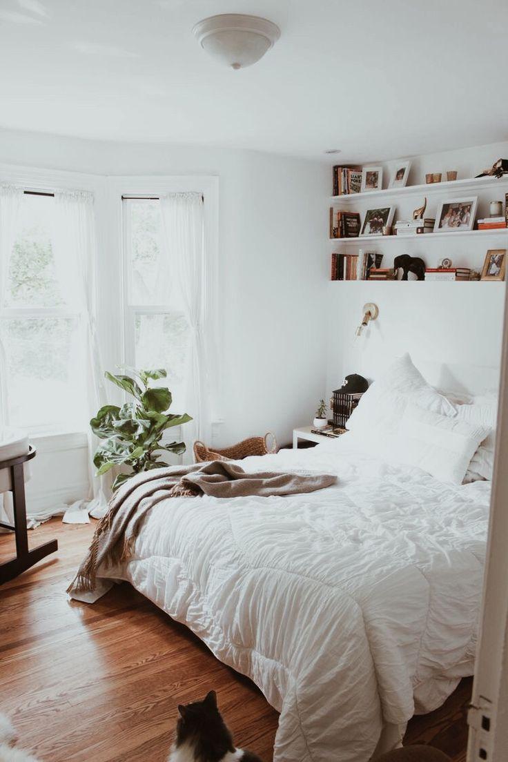 Cozy, well-loved bedroom.