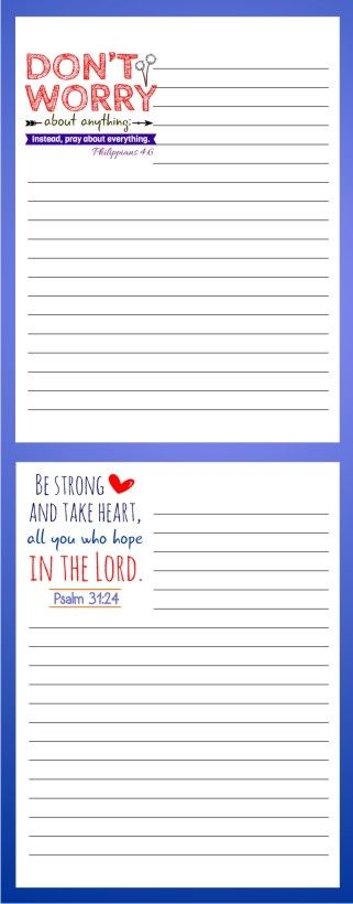 12 Printable Bible Note Pads #scripture #notepads
