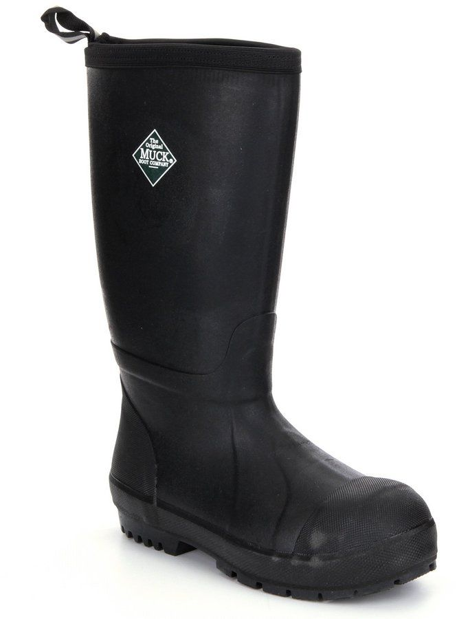 The Original Muck Boot Company Men's Chore Resistant Tall Waterproof Steel-Toe Boots